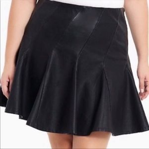 Torrid PC Leather Skater Full skirt Size 20
